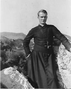 Taken in Italy,when he was the only one chosen to study in Rome-at the Vatican.
