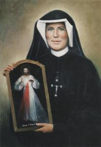 St. Faustina with Divine Mercy Image